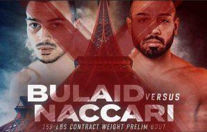 Ilias Bulaid zal ook niet meer in actie komen vanavond tijdens Bellator Parijs