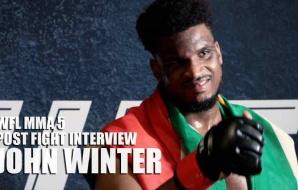 WFL MMA 5 - Post Fight Interview - John Winter