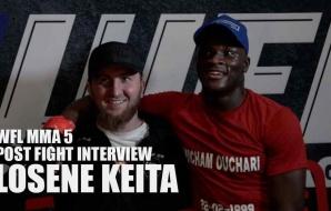 WFL MMA 5 - Post Fight Interview - Losene Keita